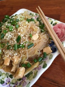 sweet and savory sesame noodles