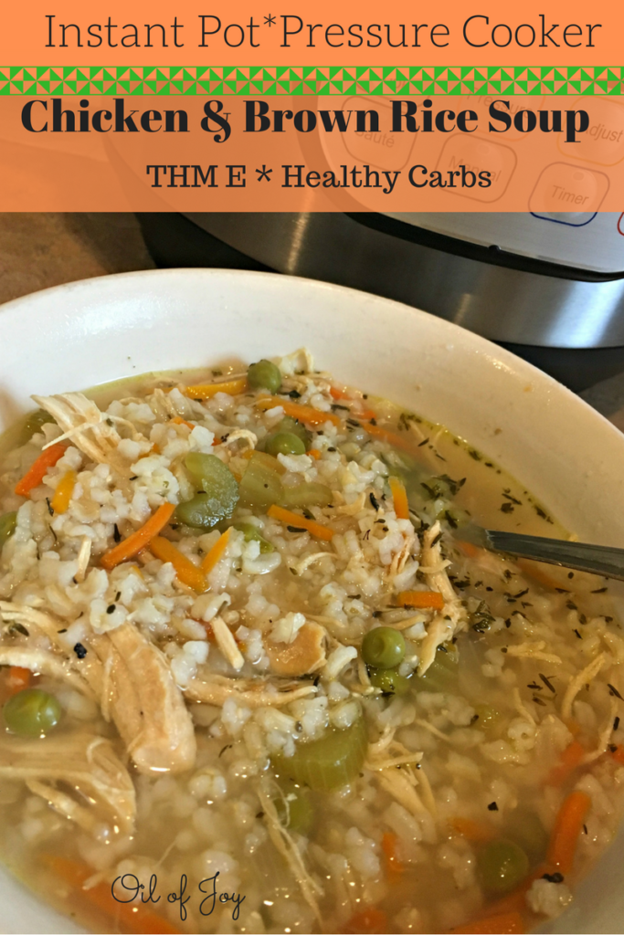 chicken brown rice soup instant pot